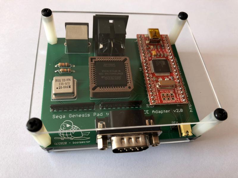 MD2PCE - Sega Genesis Controller Adapter for TG16/PCE/USB